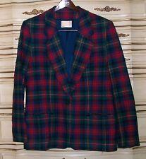 PENDLETON 100% Wool Blazer & Skirt Suit Size 16 Logan Modern Tartan Design