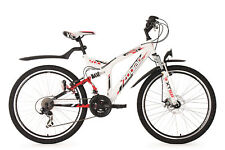 Vtt tout suspendu 21 vitesses 26'' Zodiac Blanc TC 48 cm KS Cycling 327m