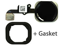 Black Home Button Flex Cable with Rubber Gasket Replacement For iPhone 6 6 Plus