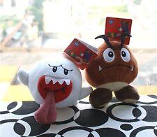X'mas Super Mario Bros Soft 2 Toy Plush Stuffed animal Doll - Boo Ghost, Goomba