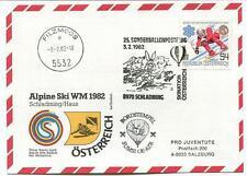 1982 Sonder Ballonpost n. 25 Pro J. OE-AZR Sumsi Schladming Filzmoos Ski WM 82