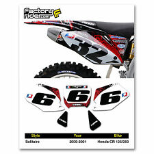 2000-2001 HONDA CR 125-250 Number Plate Dirt Bike Graphic Solitaire By Enjoy MFG