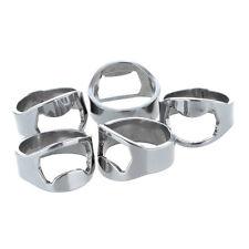 5x Silver Stainless Steel Metal Finger Thumb Ring Beer Bottle Opener Bar AD
