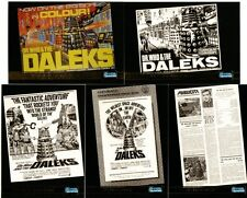 Dr Doctor Who Big Screen Foil Chase Set - Full 12 Card Chase Set - Daleks - New