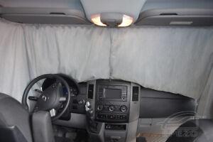 Autogardinen Fahrerhaus MB Sprinter W906  Normal- oder Hochdach, Farbe grau