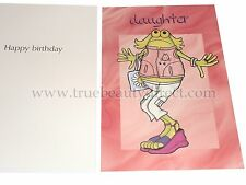 JOBLOT PACK OF 5 STATIONERY LINES CARDS HAPPY BIRTHDAY DAUGHTER FROG DRESSED UP