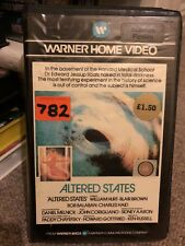 Altered States - VHS Horror video Pre-cert Original Release