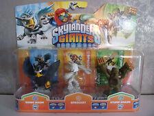 Skylanders Giants - Sparkle Sprocket, Sonic Boom, Stump Smash - New
