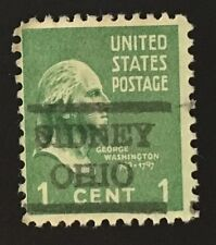 Sidney, Ohio Precancel - 1 cent Prexie (U.S. #804) OH