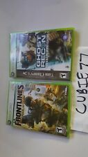 Ghost Recon: Advanced Warfighter 1st Print + Frontlines Fuel of War Xbox 360 NEW