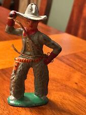 "Vintage 3"" Metal Cowboy Toy with String Lasso  (GB)"