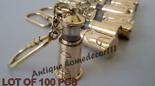NAUTICAL VINTAGE SOLID BRASS MARINE LIGHT HOUSE KEY CHAIN LOT OF 100 PCS GIFT...