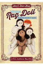 Sewing a Rag Doll Body - Pattern & Instructions Booklet + Free Tutorial Videos
