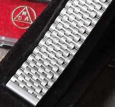 Satin steel vintage watch Swiss NSA band 18mm ends 1960s/70s NOS bracelet in box