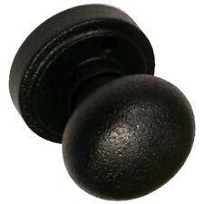 Rustic Black Sandcast Style Solid Mushroom Dummy Door Knob