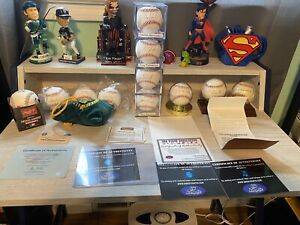 Lot of 12 Players Signed Official MLB Baseballs Clemens, Upton, Cano, Granderson