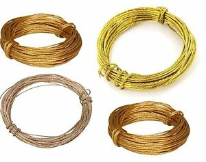 Heavy Medium Duty Brass Mirror Photo Picture Frame Hanging Wire Cord 3.5m or 6m