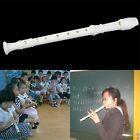 White ABS Resin Instrument 3 PCS 6 Holes Musical Soprano Recorder Long Flute NL