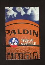 New Jersey Nets--1989-90 Pocket Schedule--New Jersey Lottery