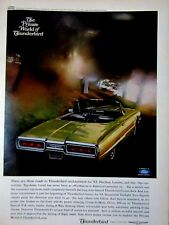 "1965 Ford Thunderbird Convertible Landau Original Print Ad-8.5 x 11"""