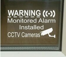 5 Monitored Alarm System Installed & CCTV Camera Security Warning Window Sticker