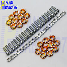 BILLET ALUMINUM FENDER BUMPER WASHER BOLT ENGINE COVER BAY DRESS UP KIT 20PCS GD