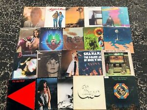 Vinyl Lot of 20 vintage record album collection (LOT RH100) ROCK