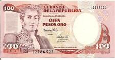 COLOMBIA, 100 PESOS ORO, 1991, UNC