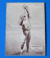 1934 BATTER UP BUDDY MYER BASEBALL CARD #19 ~ G/VG ~
