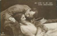 WW1 Romance My Own Sweetheart Real photo Cairo postcard Trust