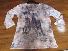 NEW REBA TROTTING EMBELISHED HORSE SHIRT WOMENS SIZE MEDIUM $58.00