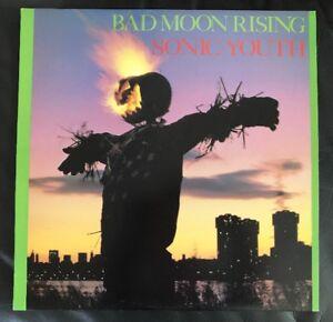 RARE!! Sonic Youth - Bad Moon Rising - Australia - Vinyl Record