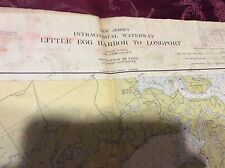 Vintage circa 1950 USC&GS Chart Map - Little Egg Harbor to Longport cape may