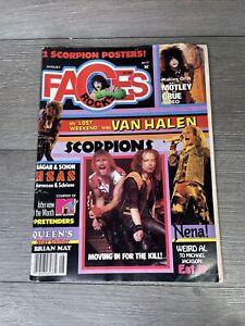 Faces Rocks Magazine August 1984. Motley Crue, Scorpions, Queen, Van Halen