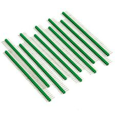 10pcs Male Header 1x40 2.54mm 40 Pin PCB Through Hole Arduino and Pi Green