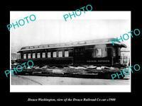 OLD LARGE HISTORIC PHOTO OF ILWACO WASHINGTON, THE ILWACO RAILROAD Co CAR c1900