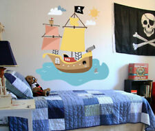 PITATE SHIP Full Color Wall decal Sticker sea bedroom kids nursery decor ced61