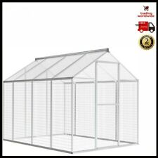 Large Bird Cage Outdoor Wire Mesh Parrot Budgie Pet Walk In Aviary Aluminium