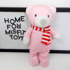"Pink Holiday Bear Pattern Plush Sugar Plum ~ Manhattan Toy ~ 12"" Stuffed Animal"