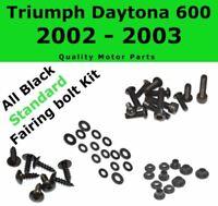 Stainless Black Fairing Bolt Kit body screws for Triumph Daytona 600 2002 - 2003
