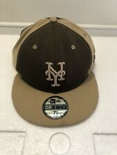 New Era 59FIFTY New York Yankees Fitted Hat Size 7 5/8 Beige Brown