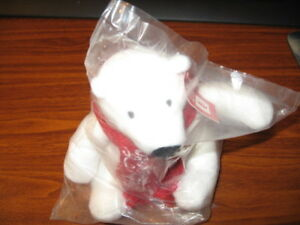 Coca Cola Arctic Teddy Bear NIP Free Shipping