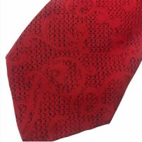 Valentino Cravatte Skinny Tie Red Silk Italian Mens Narrow Luxury Tie