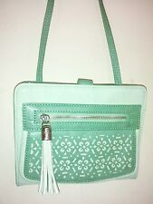 Relic by Fossil mint green synthetic leather crossbody w/ built in wallet inside