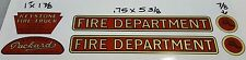 KEYSTONE    FIRE  TRUCK  DECAL  SET