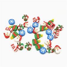 35 x Eraser Santa Christmas Tree Snowflake Christmas Advent Calendar Gift