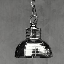 Vintage Industrielampe Silber Leuchte Hängelampe Retro Pendelleuchte Landhaus