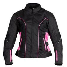 X-TREME Ladies Motorcycle Cordura Jacket 100% Waterproof Windproof Ellie Pink