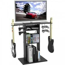 """Video Game Storage Rack Console 32"""" TV Stand Accessory Room Organizer Xbox PS3"""