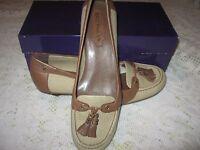 """ENZO ANGIOLINI Brown Slip On Pump Shoes 1"""" Heel NIB Sz 7.5 M"""